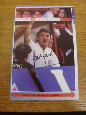 1991-1993 Football Autograph: Stoke City - Lou Macari [Hand Signed, Colour, Maga