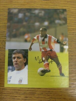 1991-1993 Football Autograph: Stoke City - Mark Stein [Hand Signed, Colour, Maga