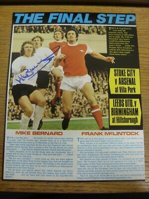 1965-1972 Football Autograph: Stoke City - Mike Bernard [Hand Signed, Colour, Ma