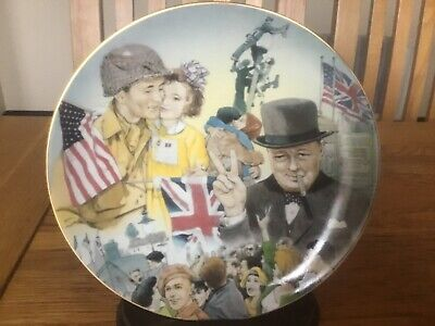 Winston Churchill Plate - This Is Your Victory - This Was Their Finest Hour -Raf