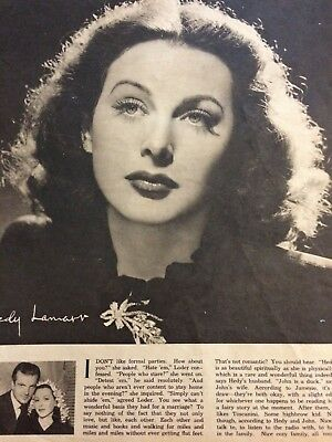 Hedy Lamarr, Full Page Vintage Pinup