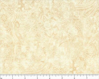 "BTY SUBTLE PAISLEY 100/% COTTON WHITE108/"" EXTRA WIDE QUILT BACKING 49662-100"