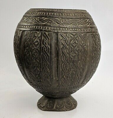 Sri Lankan Carved Coconut Cup - Early c19th - Ceylonese Asian Antique FINE