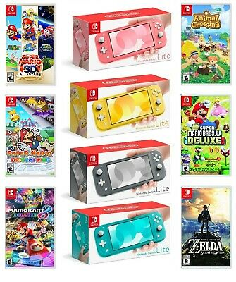 Nintendo Switch Lite Handheld Game Console Bundle with Choice of Game Brand New