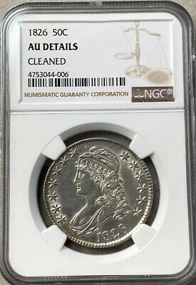 1826 Capped Bust Half Dollar Ngc Au Details Cleaned Free Shipping