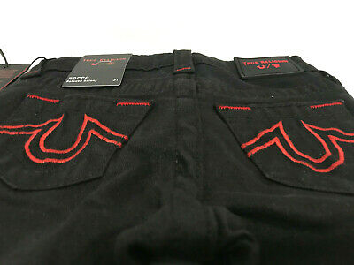 True Religion Boys Manchester Toddlers Rocco Relaxed Skinny Black Jeans Sz 3T