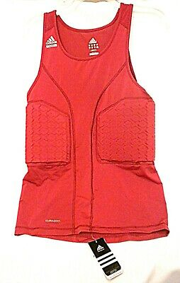 ADIDAS XLT Basketball TECHFIT Padded Red Tank Compression Shirt Climacool New