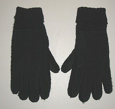 Aris Black Suede & Fabric Driving Gloves Women's One Size Os