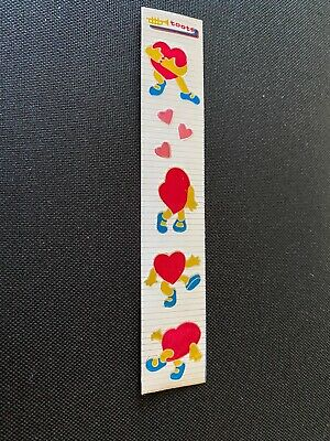"Vintage 1982 sticker toots by cardesigns ""Dancing Hearts"" in foil"