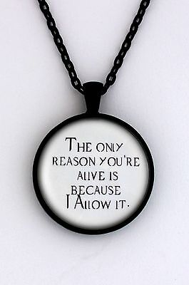 ONLY REASON Supernatural Dean Sam Winchester Crowley Quote Pendant Necklace
