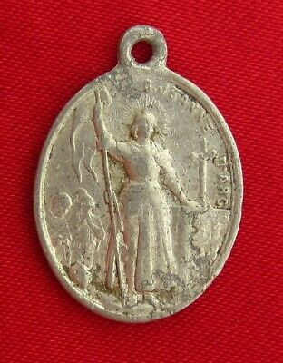 Antique French SAINT JOAN OF ARC 1909 BEATIFICATION Medal POPE PIOUS X Medal
