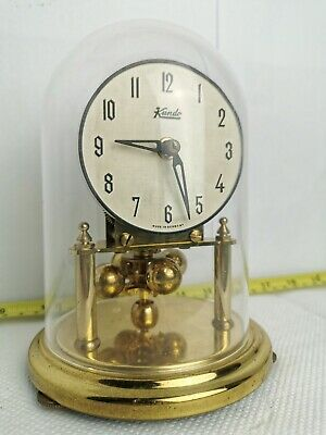 "Vintage KUNDO MECHANICAL TORSION CLOCK GERMANY 6"" 16cm DOME"