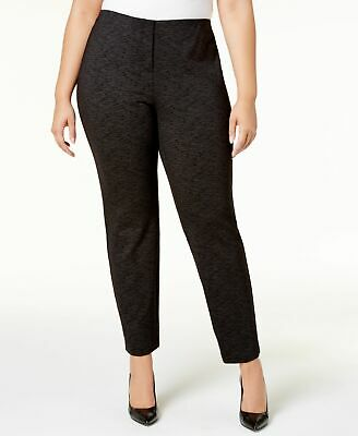 Alfani Womens Pants Black Size 22W Plus Skinny-Leg Flat-Front Stretch $84 239