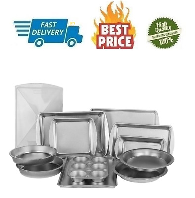 Durable Steel Construction 12-Piece Bakeware Set EZ Baker Uncoated Set Includes all Necessary Pans G /& S Metal Products Company AZ1212T Natural Baking Surface that Heats Evenly for Perfect Baking Results