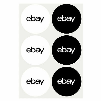 """100 pcs of 2-Color, Round eBay-Branded Sticker  stickers  labels  3"""" x 3"""" new"""