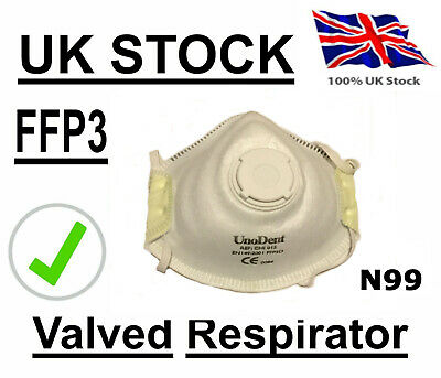 Antivirus Corona Vented Face Dust Mask Asbestos Meets FFP3 N99 Respirator UK