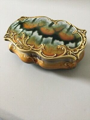 Art Nouveau Arts & Crafts Tile Pottery Trinket Box