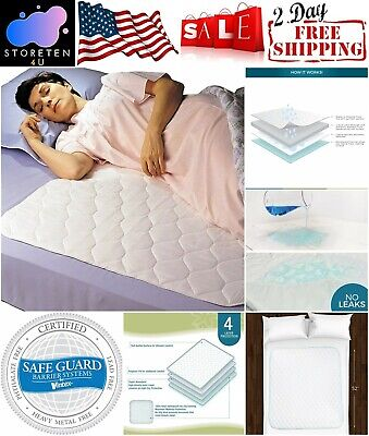 Waterproof Bed Protector Mattress Pad Washable Sheet Underpad White Rest Cover