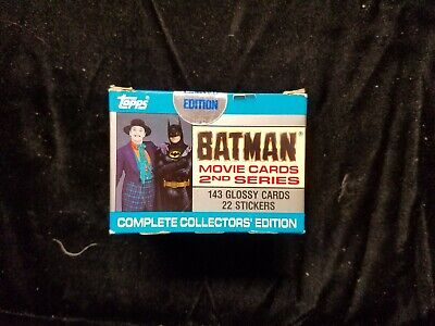 1989 BATMAN Movie Cards 2nd Series Complete Factory Trading Card Set Sealed New