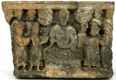 2nd-3rd C Gandhara Schist Buddhist Temple panel carving