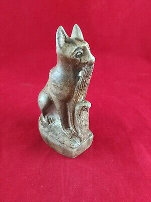 Ancient Egyptian Antiquities Statue of God Bastet (1323 – 2181 BC)