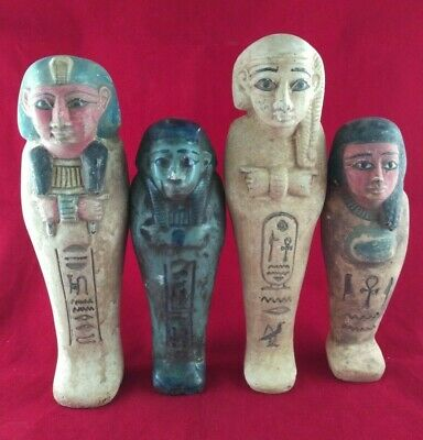 4 Ancient Egyptian Antiques Ushabti  (500 BC)