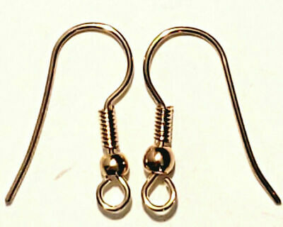Earring Gold Plate French Hook Ear Wire Finding Fish Hook Wholesale Bulk G26