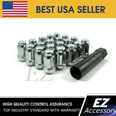 20 Pc Set Open End Spline Drive Lug Nuts Black 12x1.5For Toyota 4Runner Camry