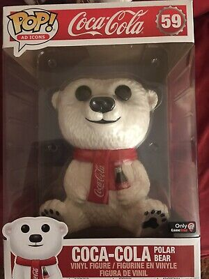 "Funko Pop! Ad Icons #59 Coca-Cola Polar Bear - 10""Inch (Gamestop Exclusive!)"