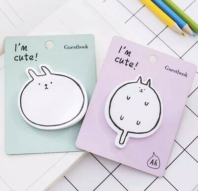 Kawaii Animal Sticky Notes For Back to School