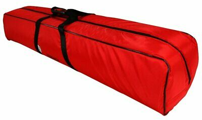 Padded Telescope Bag Red Water Resistant Fabric Lined Prevents Damage 30x24x23cm