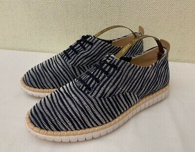 New - Clarks 'Mzt Blithe' Navy Print Textile/Leather Laced Sneakers   UK 5 EU 38