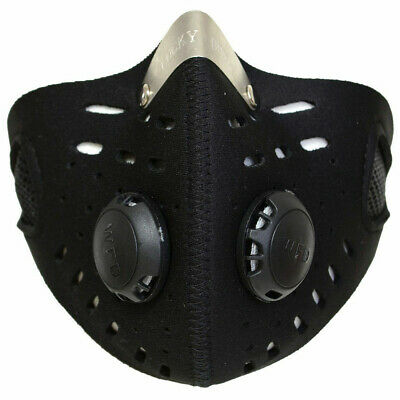 Black Breathable Dust Mask Anti Smoke Allergy Respirator Outdoor Sports US FAST