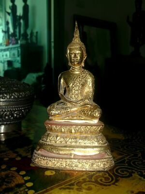 Antique Thai Buddha Gilt Bronze Rattanakosin