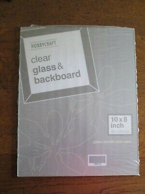 "Clear Glass & Back Board for Picture Framing. 10"" x 8""."