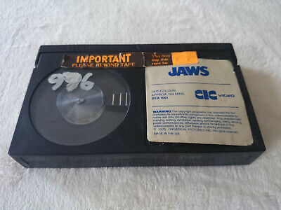 Jaws No Box Betamax Video Tape Cassette