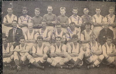 Multi Signed 1950s Charlton Athletic FC X10 Football Autograph 1960s Players
