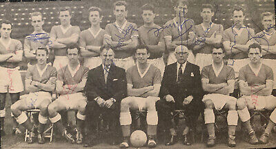 Multi Signed 1950s Charlton Athletic FC X11 Football Autograph 1960s Players