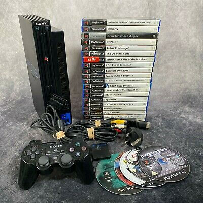 Sony PlayStation 2 PS2 Black Console + Official Controller & 25 Game Bundle