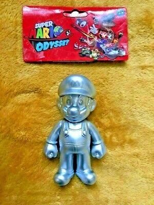 "Super Mario 5"" Action Figure - Silver Metal Mario - NEW & SEALED"