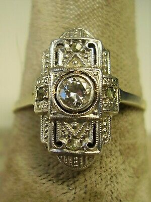 Antiker Art deco Diamant Ring 585 Gold um 1920 (1)