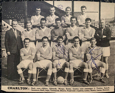 Multi Signed 1950s Charlton Athletic FC X3 Football Autograph 1960s Players