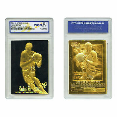 KOBE BRYANT 1996 Skybox 23K Black Gold ROOKIE Card Graded Gem-Mint 10 RARE #2a