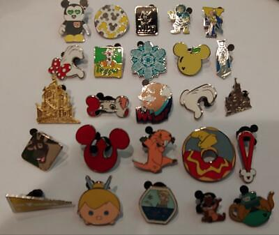Disney Trading Pins-Lot of 25-No Duplicates-LE-HM-Rack-Cast-Fast Shipping