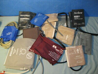 Lot of Assorted Reusable Blood Pressure Cuff Large Adult (QTY-11)