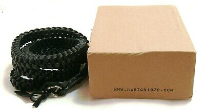 Barton 1972 twisted leather camera strap, black, boxed MINT- #35840