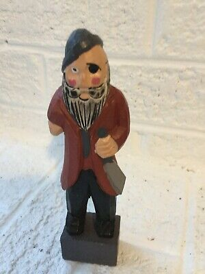 Vintage Wood Hand Carved Nautical Fisherman Sailor 6 inches