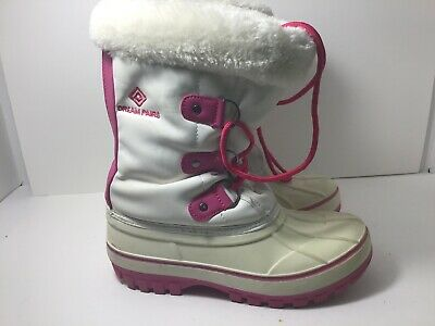 DREAM PAIRS Girls / Kids Faux Fur-Lined Ankle Winter Snow Boots SIZE 3