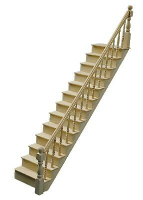 Dolls House Classic Wooden Staircase Kit Stairs Bannister Miniature 1:12 Scale