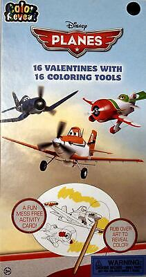 Disney Planes Valentine Exchange Cards with ART TOOL Classroom Party - 32 TOTAL